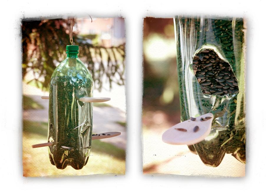 Easy bird feeders the dirty hippie the bohemian girl Wine cork birdhouse instructions