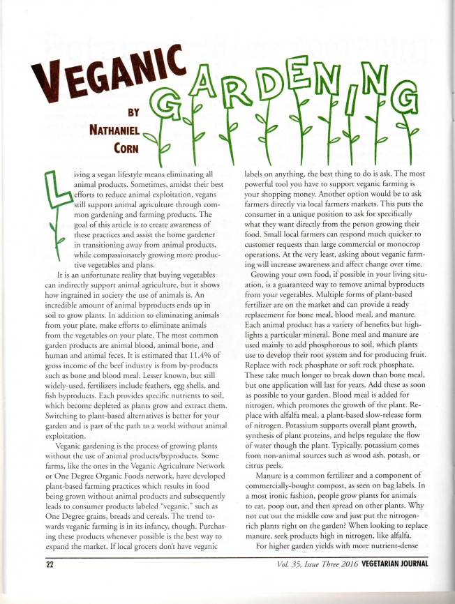 Vegetarian Journal Article